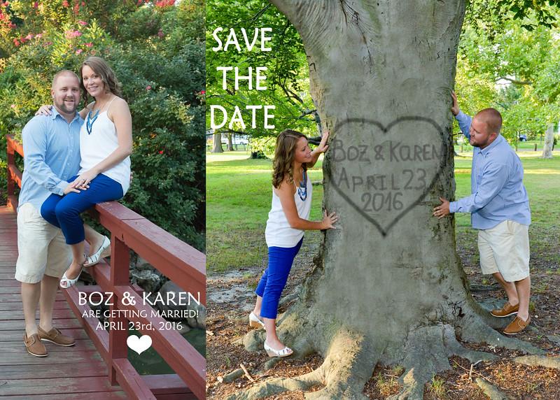 Boz and Karen's Save The Date design